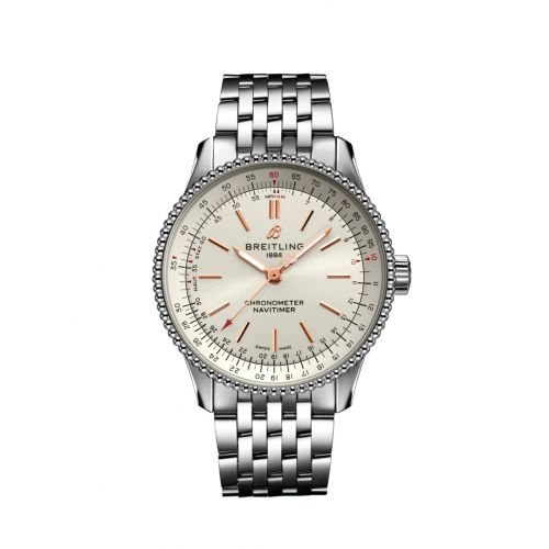 Breitling A17395F41G1A1 : Navitimer 1 35 Automatic Stainless Steel / Silver / Bracelet