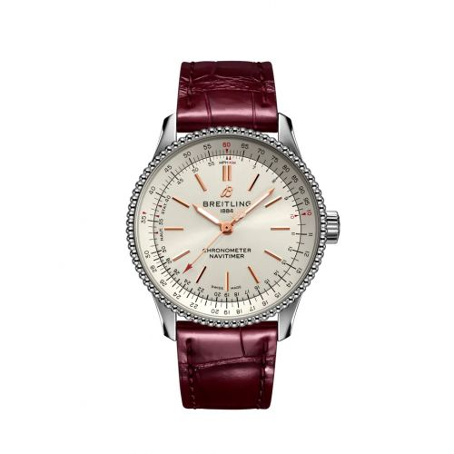 Breitling A17395F41G1P2 : Navitimer 1 35 Automatic Stainless Steel / Silver / Croco / Folding