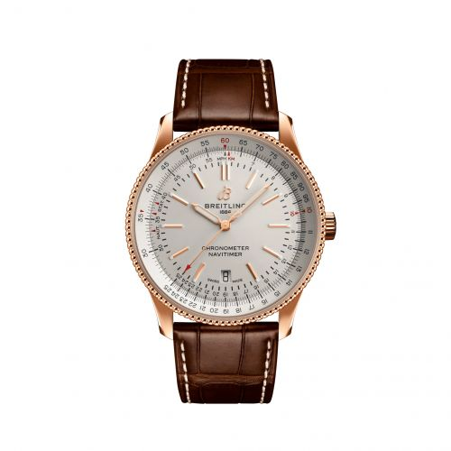 Breitling R17326211G1P1 : Navitimer Automatic 41 Automatic Red Gold / Silver / Croco / Pin