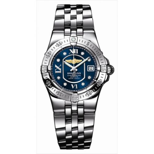 A7134012.C770 : Breitling Starliner 2008 Blue / Diamond / Bracelet
