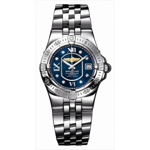 Breitling A7134012.C770 : Starliner 2008 Blue / Diamond / Bracelet