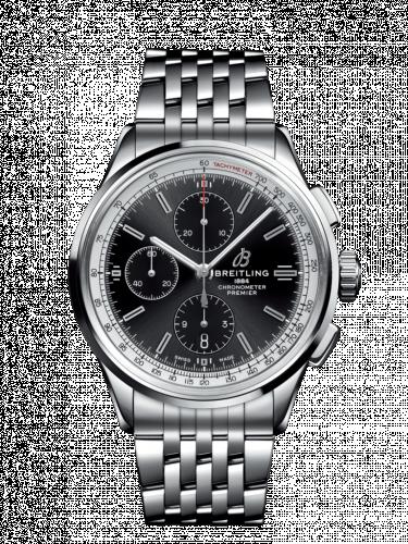 Breitling A13315351B1A1 : Premier Chronograph 42 Stainless Steel / Black / Bracelet