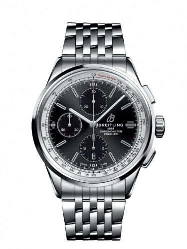A1331535B1A1 : Breitling Premier Chronograph 42 Stainless Steel / Black / Bracelet