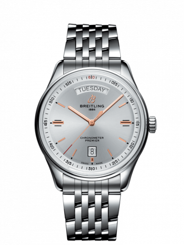 A45340211G1A1 : Breitling Premier Automatic Day & Date 40 Stainless Steel / Silver / Bracelet