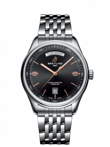Breitling A45340241B1A1 : Premier Automatic Day & Date 40 Stainless Steel / Black / Bracelet