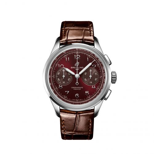 Breitling AB0930D41K1P1 : Premier Heritage B09 Chronograph 40 Stainless Steel / Burgundy / Boutique Edition