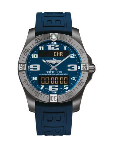 Breitling E7936310/C869/158S/A20SS.1 : Aerospace Evo Titanium / Blue / Rubber / Pin