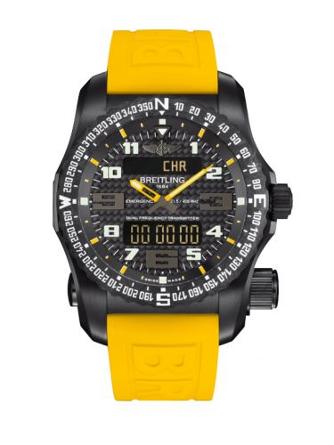Breitling V763266Z.BE80.246S : Emergency II Night Mission / Carbon Yellow / Rubber / Boutique