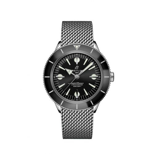 Breitling A10370121B1A1 : Superocean Heritage '57 Stainless Steel / Black / Mesh