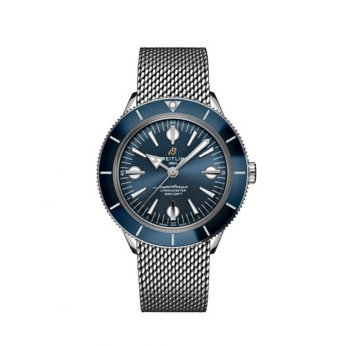 Breitling A10370161C1A1 : Superocean Heritage '57 Stainless Steel / Blue / Mesh
