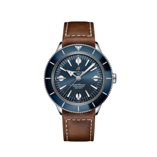 Breitling A10370161C1P2 : Superocean Heritage '57 Stainless Steel / Blue / Calf / Folding