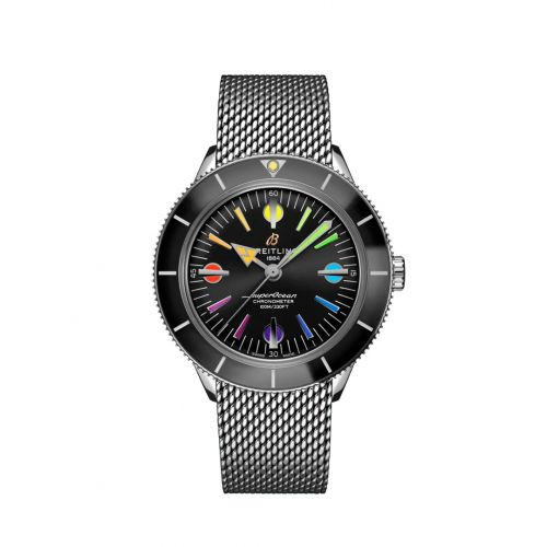 Breitling A103701A1B1A1 : Superocean Heritage '57 Stainless Steel / Rainbow Boutique Limited Edition / Mesh