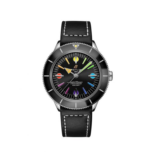 Breitling A103701A1B1X1 : Superocean Heritage '57 Stainless Steel / Rainbow Boutique Limited Edition / Calf / Pin