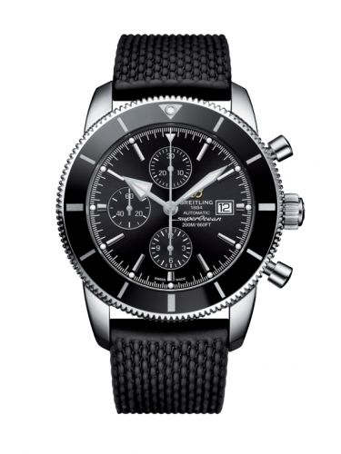 Breitling A1331212/BF78/256S/A20D.4 : Superocean Heritage II 46 Chronograph Stainless Steel / Black / Black / Rubber / Folding