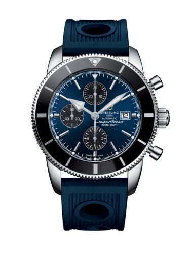 Breitling A1331212/C968/205S : Superocean Heritage II 46 Chronograph Stainless Steel / Black / Blue /  Rubber
