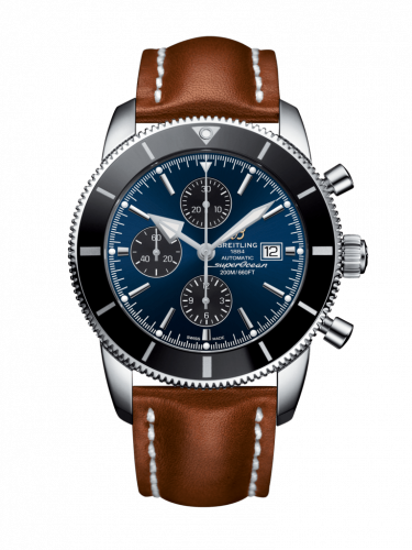 Breitling A1331212/C968/440X/A20D.1 : Superocean Heritage II 46 Chronograph Stainless Steel / Black / Blue / Calf / Folding