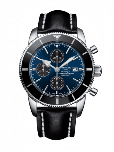 Breitling A1331212/C968/442X/A20D.1 : Superocean Heritage II 46 Chronograph Stainless Steel / Black / Blue / Calf / Folding