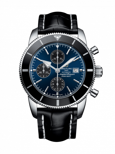 Breitling A1331212/C968/760P/A20BA.1 : Superocean Heritage II 46 Chronograph Stainless Steel / Black / Blue / Croco / Pin