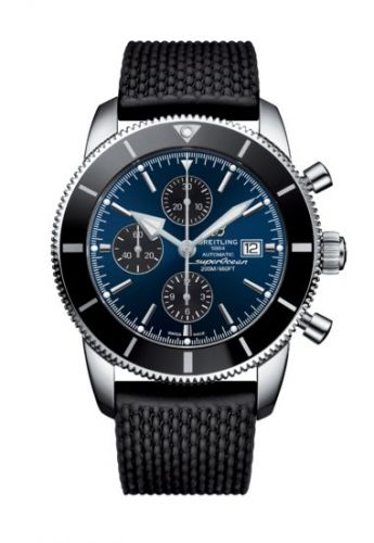 Breitling A13312121C1S1 : Superocean Heritage II 46 Chronograph Stainless Steel / Black / Blue /  Rubber / Folding