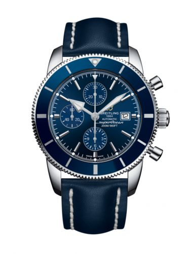 Breitling  A1331216/C963/101X/A20BA.1 : Superocean Heritage II 46 Chronograph Stainless Steel / Blue / Blue /  Calf / Pin