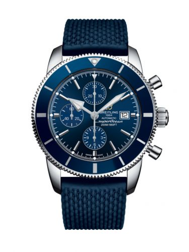 Breitling A1331216/C963/277S : Superocean Heritage II 46 Chronograph Stainless Steel / Blue / Blue /  Rubber / Pin