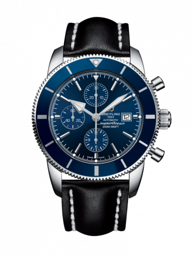 Breitling  A1331216/C963/442X/A20D.1 : Superocean Heritage II 46 Chronograph Stainless Steel / Blue / Blue /  Calf / Folding