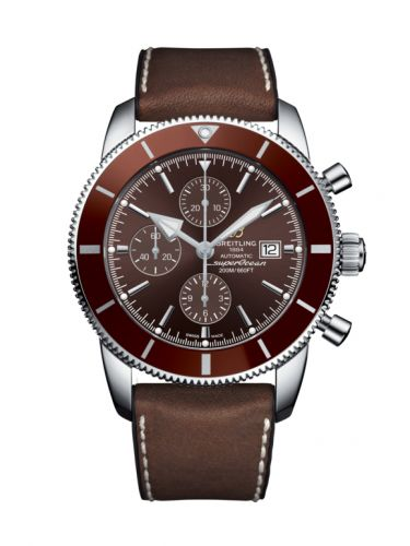 Breitling A1331233/Q616/295S/A20D.2 : Superocean Heritage II 46 Chronograph Stainless Steel / Bronze / Bronze /  Leather Rubber