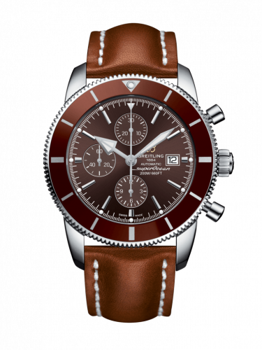 Breitling A1331233/Q616/439X/A20BA.1 : Superocean Heritage II 46 Chronograph Stainless Steel / Bronze / Bronze /  Calf / Pin