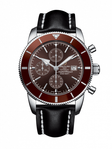 Breitling A1331233/Q616/441X/A20BA.1 : Superocean Heritage II 46 Chronograph Stainless Steel / Bronze / Bronze /  Calf / Pin