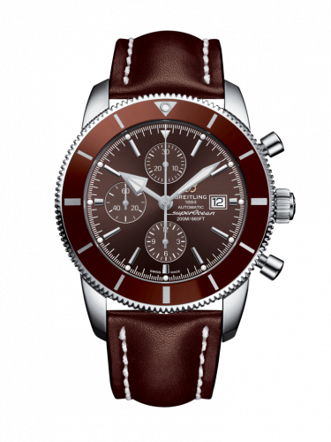 Breitling A1331233/Q616/443X/A20BA.1 : Superocean Heritage II 46 Chronograph Stainless Steel / Bronze / Bronze /  Calf / Pin