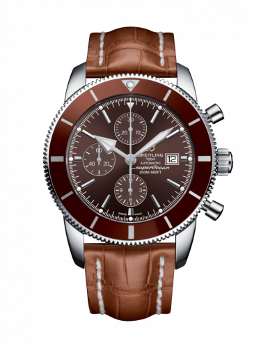 Breitling  A1331233/Q616/755P/A20D.1 : Superocean Heritage II 46 Chronograph Stainless Steel / Bronze / Bronze /  Croco / Folding