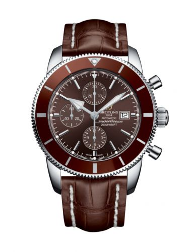 Breitling A1331233/Q616/756P/A20BA.1 : Superocean Heritage II 46 Chronograph Stainless Steel / Bronze / Bronze /  Croco / Pin