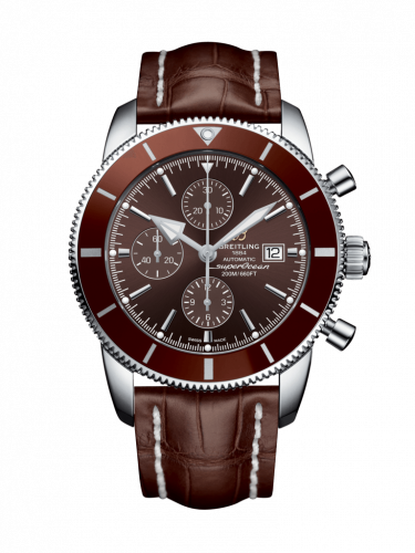 Breitling A1331233/Q616/757P/A20D.1 : Superocean Heritage II 46 Chronograph Stainless Steel / Bronze / Bronze /  Croco / Folding