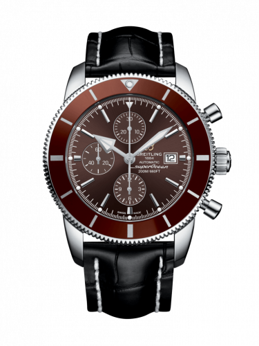 Breitling A1331233/Q616/760P/A20BA.1 : Superocean Heritage II 46 Chronograph Stainless Steel / Bronze / Bronze /  Croco / Pin