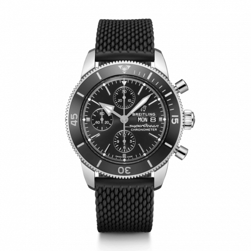 Breitling A13313121B1S1 : Superocean Heritage II Chronograph 44 Stainless Steel / Black / Rubber / Folding