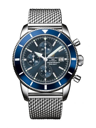 Breitling A1332016.C758.152A : Superocean Heritage 46 Chronograph Stainless Steel / Blue / Blue / Milanese