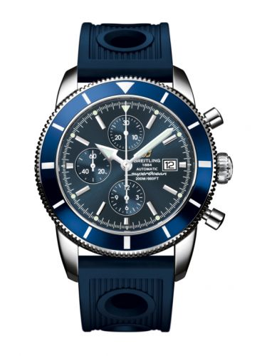 Breitling A1332016.C758.205S : Superocean Heritage 46 Chronograph Stainless Steel / Blue / Blue / Rubber