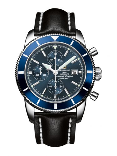 Breitling A1332016.C758.441X : Superocean Heritage 46 Chronograph Stainless Steel / Blue / Blue / Calf