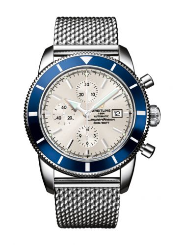 Breitling A1332016.G698.152A : Superocean Heritage 46 Chronograph Stainless Steel / Blue / Stratus Silver / Milanese