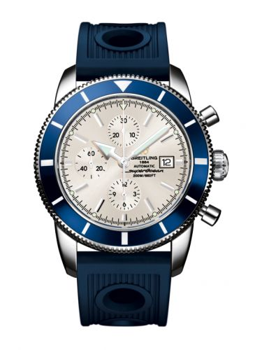 Breitling A1332016.G698.205S : Superocean Heritage 46 Chronograph Stainless Steel / Blue / Stratus Silver / Rubber