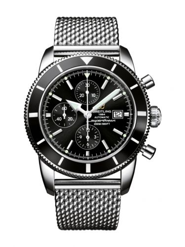 Breitling A1332024.B908.152A : Superocean Heritage 46 Chronograph Stainless Steel / Black / Black /  Milanese
