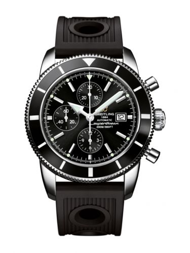 Breitling A1332024.B908.201S : Superocean Heritage 46 Chronograph Stainless Steel / Black / Black / Rubber