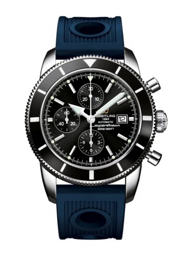 Breitling A1332024.B908.205S : Superocean Heritage 46 Chronograph Stainless Steel / Black / Black / Rubber