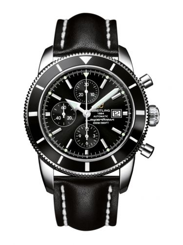Breitling A1332024.B908.441X : Superocean Heritage 46 Chronograph Stainless Steel / Black / Black / Calf