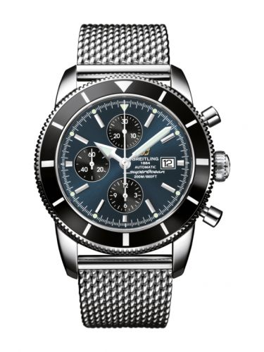 Breitling A1332024.C817.152A : Superocean Heritage 46 Chronograph Stainless Steel / Black / Gun Blue / Milanese