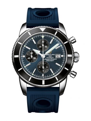 Breitling A1332024.C817.205S : Superocean Heritage 46 Chronograph Stainless Steel / Black / Gun Blue / Rubber