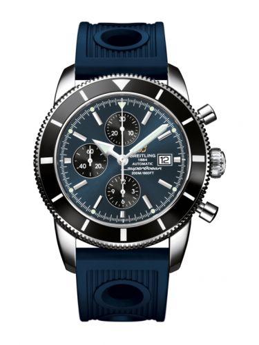 Breitling A1332024.C817.441X : Superocean Heritage 46 Chronograph Stainless Steel / Black / Gun Blue / Calf