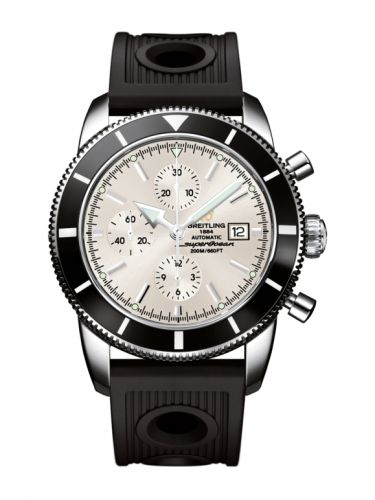 Breitling A1332024.G698.201S : Superocean Heritage 46 Chronograph Stainless Steel / Black / Stratus Silver / Rubber