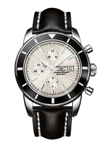 Breitling A1332024.G698.441X : Superocean Heritage 46 Chronograph Stainless Steel / Black / Stratus Silver / Calf