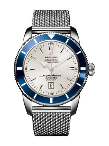 Breitling A1732016.G642.152A : Superocean Heritage 46 Stainless Steel / Blue / Stratus Silver / Milanese